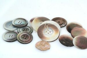 Lge Lot Mother Of Pearl Button Lot Antique Vintage