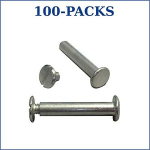 Silver Aluminum Screw Post 1 25 Binder Accessory Chicago Post 100 packs