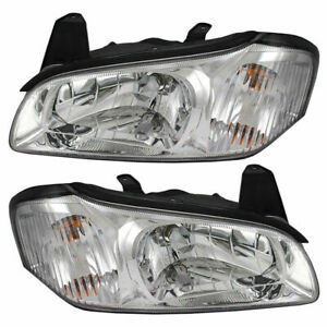 Fits For 2000 2001 Ns Maxima Headlights Right Left Pair Chrome