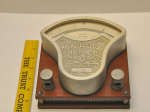 1900 S Whitney Electrical Instrument Direct Alternating Current Roller Ammeter