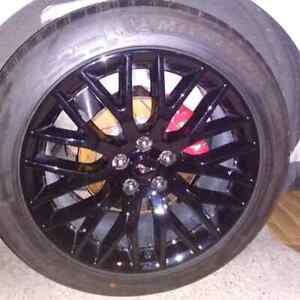 19 Ford Mustang Gt Factory Oem Rims And Tires Staggered Set Of 4 New Take Offs
