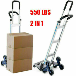 550lbs Hand Truck 6 Wheel Stair Climber Moving Furniture Utility Cart Us Stock