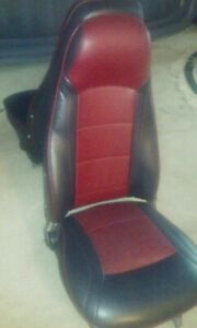 Datsun 240z Buket Seats Redone In Red And Black Nice With Rails 73 78