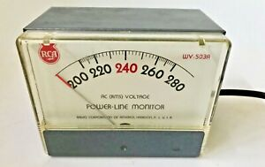 Rca Wv503a Ac rms Voltage Power line Monitor 240 Volts