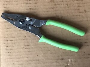 Snap On Tools Soft Grip Pliers Wire Stripper Crimper Bolt Cutter 9 Pwcs9cf