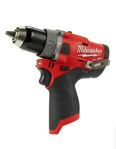 New Milwaukee 2504 20 M12 Fuel 12 volt Brushless 1 2 In Hammer Drill