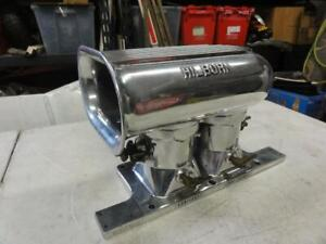 Hilborn Polished 4 71 Two Port Injection Unit W Scoop Gasser Altered 2 4