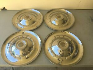 Vintage Chrysler Dodge Plymouth Hubcaps Wheel Covers 15 Set Of 4
