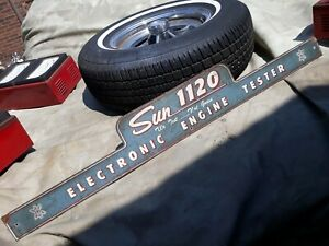 1960 s Sun Machine 1120 Sign Name Plate Chevy Ford Pontiac Amc Buick Dodge Gmc