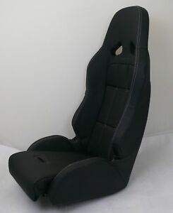 One Invictus Race Bucket Seat Black Low Profile Compact Cars Utv Free Shipping