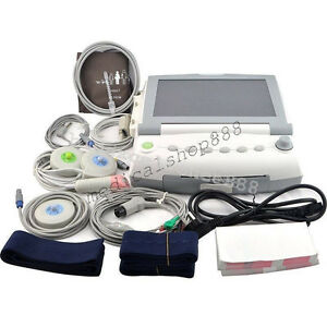 12 Color Lcd Patient Maternal Fetal Monitor Fhr Toco Twins single 9 Parameter