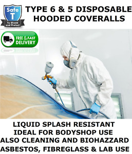 Disposable Coverall Hooded type 6 5 Same As Tyvek Spray Suit paint Body Shop