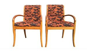 Pair Of Armchairs In The Style Of Robsjohn Gibbings Mid Century Style