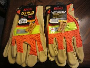 Kinco 909 Pigskin Safety Mesh Work Gloves Men s X large Unlined Nwt 12 Pair