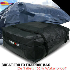 39 x35 5 x10 16 5 Waterproof Car Bag Top Carrier Soft Roof Cargo Fit All