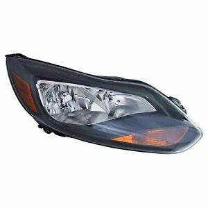 Fits For 2012 2013 2014 Ford Focus Headlight W black Right Passenger