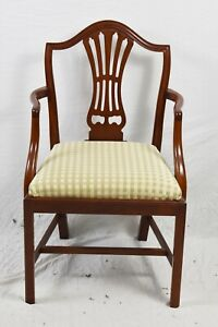 Suters Chippendale Mahogany Arm Chair Williamsburg Style