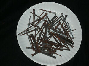Vintage Square Cut Steel Nails One Pound Appx 70