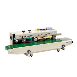 Horizontal Frd 1000ii Auto Continuous Bag Sealing Machine 110v Colored Ink Wheel