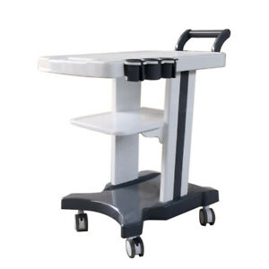 3 Holes Mobile Trolley Cart For Portable Ultrasound Tool Car With Handle