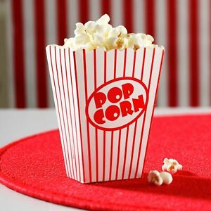 200 Pcs Party Popcorn Boxes Retro Cinema Party Favour Treat Boxes Birthday Party