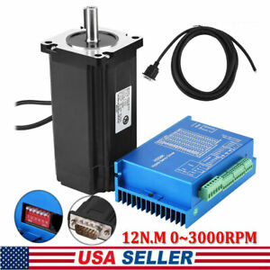 Nema 34 Closed Loop Stepper Motor Kit Hbs86h Servo Driver With Cable Us