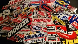 Large Lot 50 Racing Window Decals Stickers Nhra Nascar Chevy Ford Mopar Grab Bag