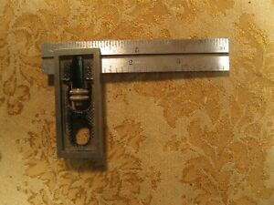 Vintage Starrett 4 No 13 Double Square