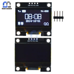 1 3 128x64 Serial Iic I2c Oled Lcd Display Screen Module White For Arduino
