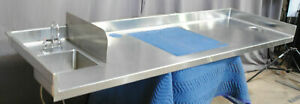 Commercial Grade Stainless Steel Prep Countertop W Sink Cutout 93 Wide