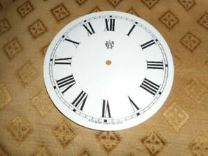 For American Clocks Waterbury Paper Clock Dial 5 M T Gloss White Parts Spares