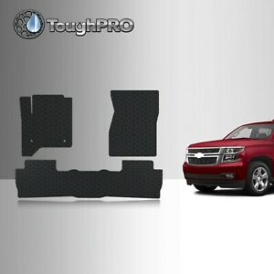 Toughpro Floor Mats Black For Chevrolet Tahoe Bench All Weather 2015 2020