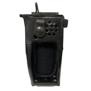 Leather Belt Clip Holster For Motorola Xpr 7550 Radios includes Metal D rings