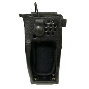 Leather Swivel Holster For Motorola Xpr 7550 Radios includes Metal D rings
