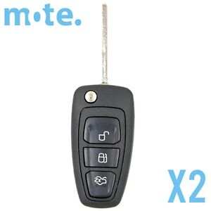 2 X To Suit Ford Focus C Max Ranger Hu101 Remote Flip Key Blank Shell Case