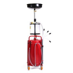 Oil Filter Portable Air Tank Waste Oil Operated Drainer Change Drain 20 Gallon