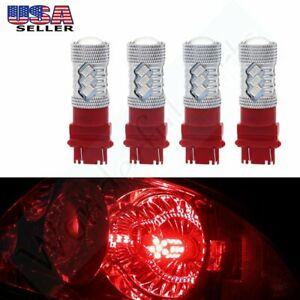 Bulbs 3157 3057 4057 3056 Cree Led Red Turn Signal Vehicle Light Lamps 2pair