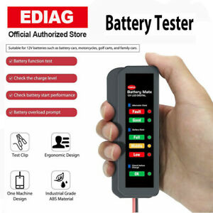 Universal 12v Car Battery Load Tester Digital Analyzer Auto Led Motor Alternator