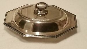 Vintage Epns Sheffield Silverplate Casserole With Lid And Removable Handle