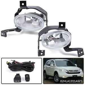 For 2010 2011 Honda Cr V Crv Clear Bumper Fog Lights Pair Switch Wiring