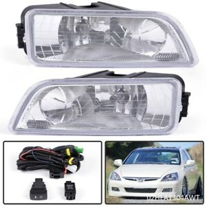 Front Bumper Fog Driving Light W Wiring Kit For Honda Accord 2003 2007 4 Drs