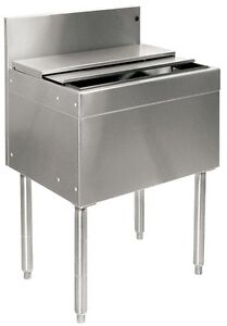 Glastender Stainless Steel Commercial Back Bar Ice Bin 30 With Lid