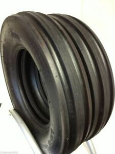 Two 650 16 8 Ply Rated Tractor Tires F2 3 Rib Tubeless 65016