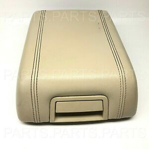 2007 2014 Ford Expedition Center Console Cover Armrest Lid Tan Beige Vinyl Oem