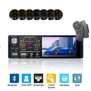 7 Double Din Car Stereo Radio Mp5 Player Touchscreen Bt Audio In dash Head Unit
