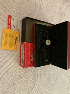 Starrett 711lcsz Last Word Dial Test Indicator With Attachments Dial 0 15 0