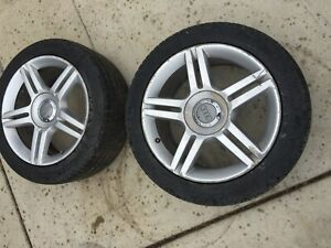 2005 2008 Audi A4 Quattro 2 0t Wheel Tires W Rims Pair Oem