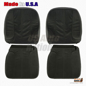 2003 2004 2005 Dodge Ram 1500 2500 3500 Slt Front Cloth Seat Covers In Dark Gray