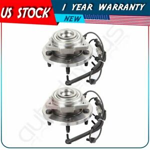2 New Front Wheel Hub Bearings For Jeep Grand Cherokee Commander Rwd 4wd 5 Lug