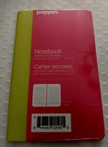 New Poppin Small Notebook Snow Cone Green Pink 3 1 2 X 5 1 2 Desk Modern